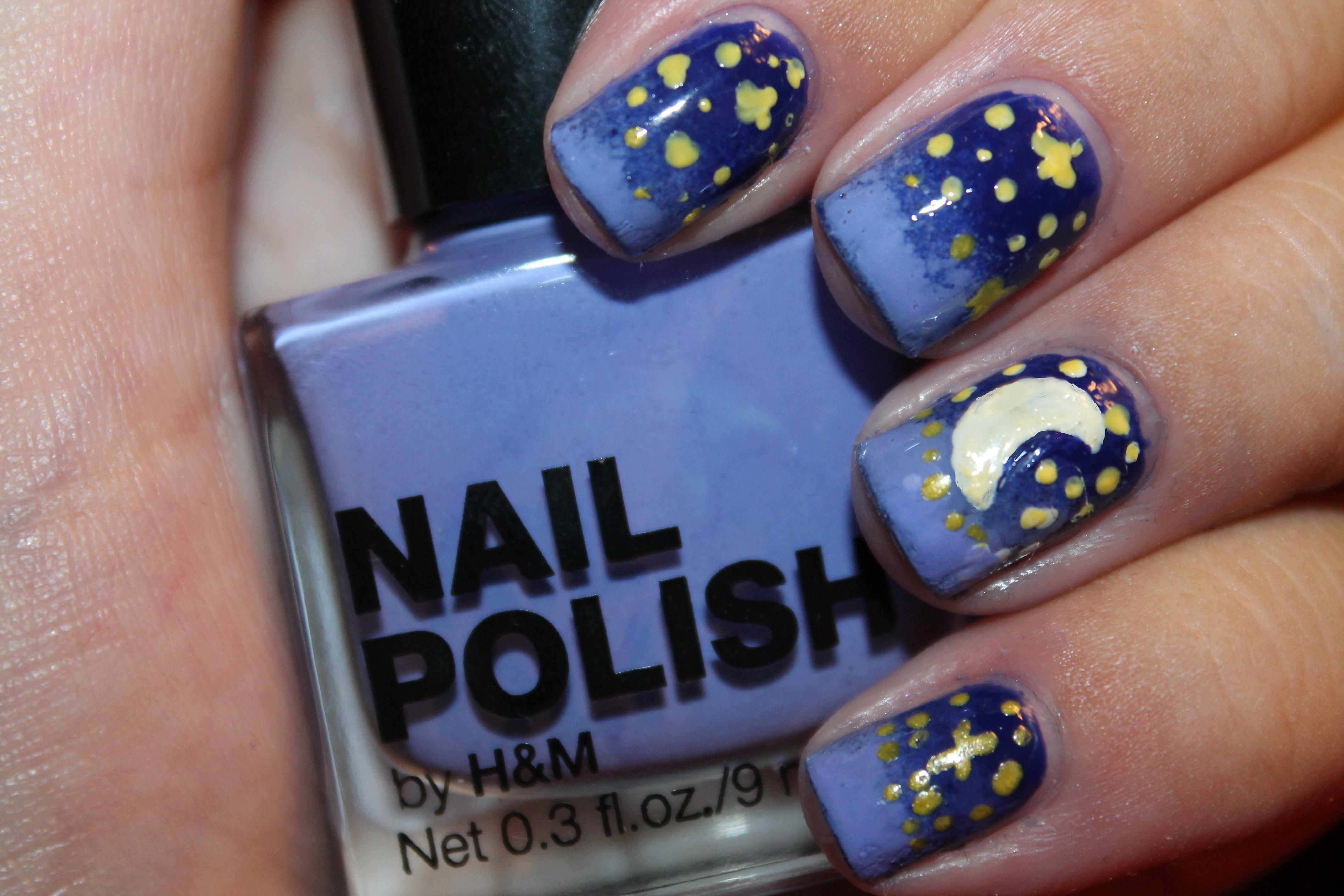 Night Sky Nail Art Its So Damn Original Nail Polish Blog
